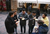 Retomando fuerzas con el grupo en el BAR SANTOS cercano a la Mezquita-Catedral de Córdoba