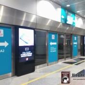 Tren de conexión entre terminales en el Aeropuerto de Kuala Lumpur (KLIA1).