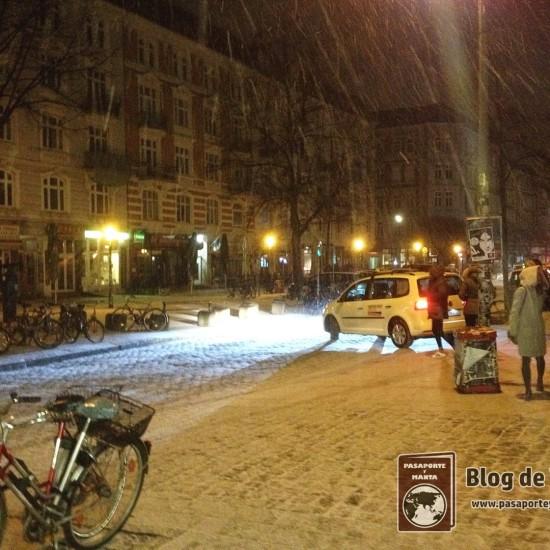 Copiosa nevada que nos cayó en pleno menos de Enero.