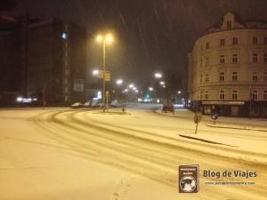 De camino a casa nos sorprendió una gran nevada.
