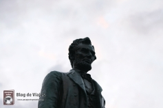ESCOCIA Edimburgo - Estatua Abraham Lincoln