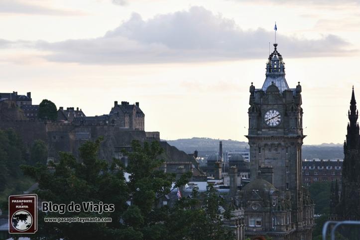 Panorámica de Edimburgo Escocia desde Calton Hill