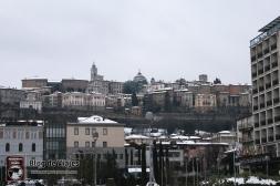 Bergamo Italia - Vista de la Ciudad Alta desde la Ciudad Baja-mod