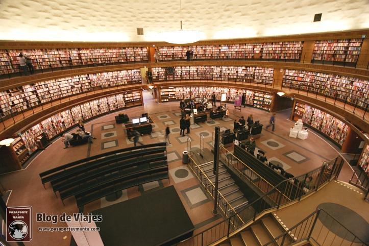 Stadsbibliotek - Biblioteca Pública de Estocolmo