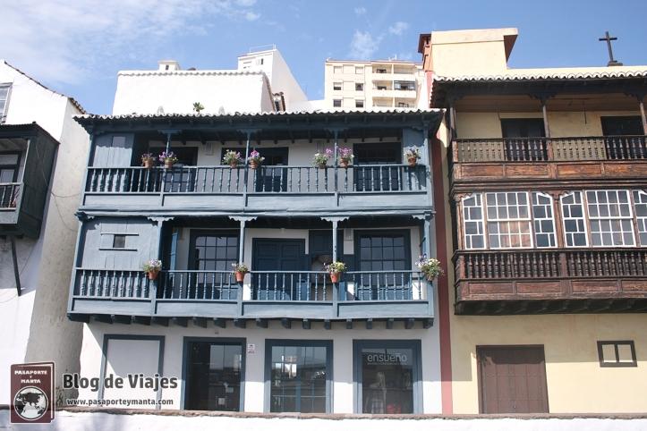 La Palma - Balcones típicos en Santa Cruz de la Palma
